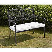 Versailles Garden Bench, Aluminium, 2 seater