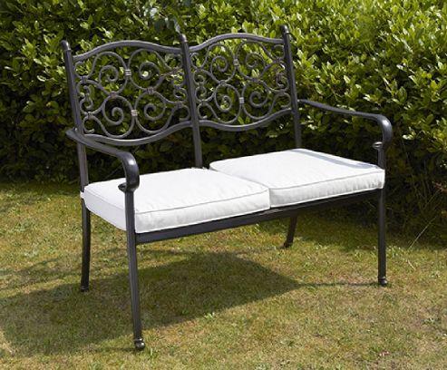 Buy Versailles Garden Bench Aluminium 2 Seater From Our