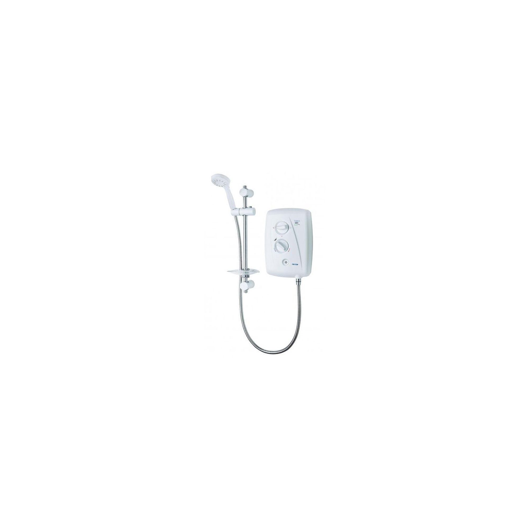 Triton T80Z Fast-Fit Eco Electric Shower White/Chrome 8.5 kW at Tesco Direct