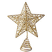 Gold Glitter Sparkly Star Christmas Tree Topper
