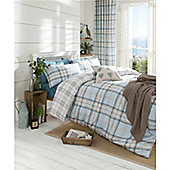 Catherine Lansfield Kelso  Bed Cotton Rich Quilt Set Duck egg - Duck egg blue