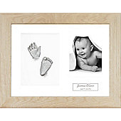 3D Baby Casting Kit - Solid Oak Frame - Silver Paint