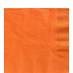 Orange Luncheon Napkins - 3ply Paper