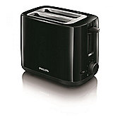 Philips 2-slot compact black toaster 800w