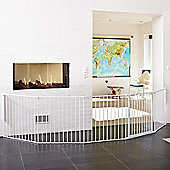BabyDan XXL Flex Hearth Gate White