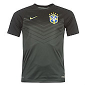 2014-15 Brazil Nike Pre-Match Training Shirt (Black) - Black