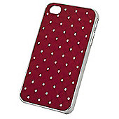 Tortoise™ Hard Case iPhone 4/4S Diamante Quilt Red