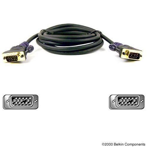 Belkin Cable VGA HDDB15 (Male to Male) Monitor Replacement Cable Gold 7.5m