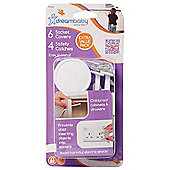 Dreambaby Socket Covers and Safety Catches Set