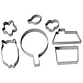 Bobby Bear House Cookie Cutters, Set of 7