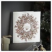 Tesco Luxury Seasons Greetings Wreath Christmas Cards, 6 Pack
