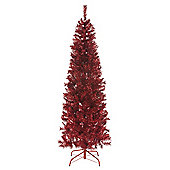 6ft Red Tinsel Christmas Tree