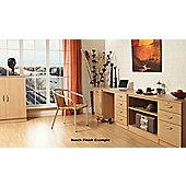 Enduro Cupboard and Drawer Pedestal - Beech