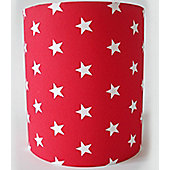 Red with White Stars, Medium Fabric Lampshade / Lightshade