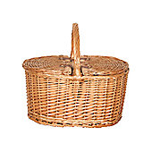 Wicker Valley Willow Oval 2 Lid Picnic Basket