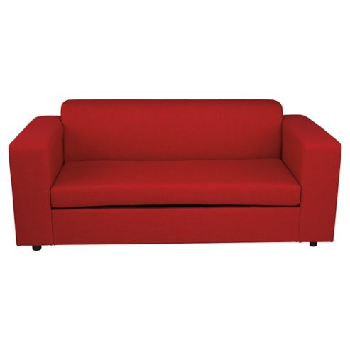 Stanza Fabric Sofa Bed, 2 Seater Sofa Red