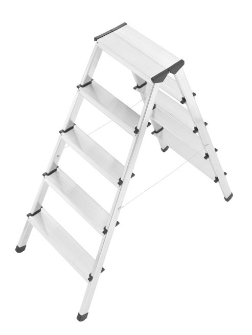 Hailo 263cm L90 Aluminium Double-sided Safety Ladder
