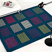 Elements Rugs 5861 Teal80x150cm