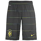 2014-15 Brazil Nike Third Shorts (Black) - Kids - Black