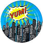 Pop Art Superhero Plates - 23cm Paper Party Plates