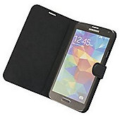 "Tortoiseâ""¢ Ultra Genuine Leather Flip Case with built in Stand Samsung Galaxy S5 Black"