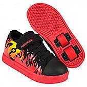 Heelys Spiffy Black/Red/Flames Kids Heely X2 Shoe - Black