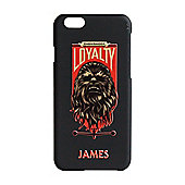 Star Wars Force Awakens Personalised iPhone 6 black Cover Chewbacca