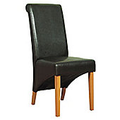 Furniture Link Corban Dining Chair (Set of 2) - Oak - Black/Oak
