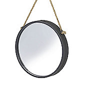 Parlane Wall Hanging Metal & Glass Black Mirror - 28cm