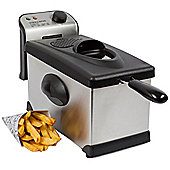 Andrew James 3 Litre Deep Fat Fryer in Silver