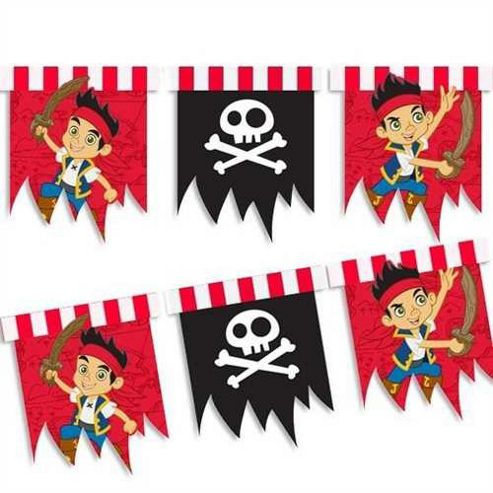 Jake And The Neverland Pirates Plastic Flag Banner - Party - Amscan