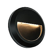 Severus Outdoor Wall Light - Black Abs Plastic & Clear Pc