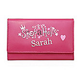 Personalised Pink Shopaholic Purse