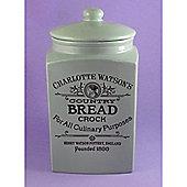 Charlotte Henry Watson Large Square Ceramic Bread Crock