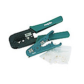 RJ45 and RJ11 Crimp Tool and Cable Stripper Set