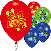 9' Disney Mickey Mouse 5th Birthday (6pk)