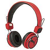 Puma League On-Ear Headphones - Red/Black