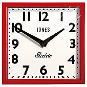 Jones & Co Box Clock Red