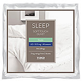 Tesco Anti-Allergy Double Duvet 4.5/10.5 Tog All Seasons - Soft Touch