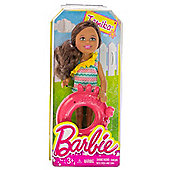 """Tamika w/ Crab Inner Tube: Barbie Chelsea & Friends Pool Collection 5.25"""" Doll Figure"""