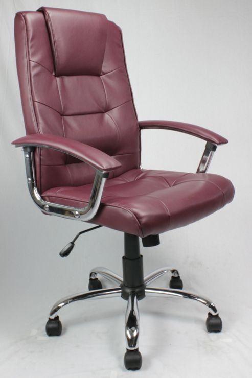 Enduro Managers High Back Leather Faced Executive Armchair - Burgundy