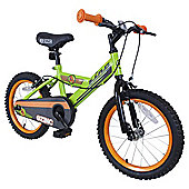 "Zinc 16"" Boys Green & Orange Bike"