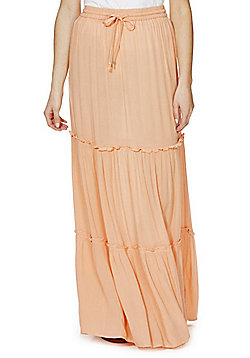 F&F Tiered Maxi Skirt - Coral