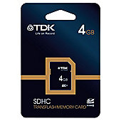 TDK SDHC Memory Card 4GB