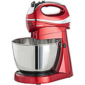 VonShef Hand & Stand Mixer with 3.5L Bowl, Red, 300W