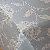 Country Flora Blue 200cm x 135cm Oilcloth Tablecloth