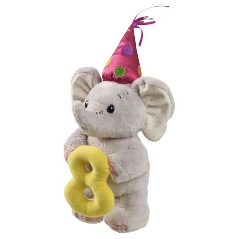 8th Birthday Elephant Soft Toy