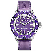 Nautica Gents BFD 100 Purple Rubber Watch A09606G