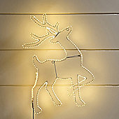 Warm White LED Reindeer Tape Light Silhouette
