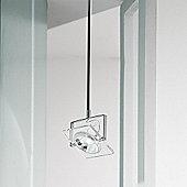 De Majo San Siro Ceiling Light - 20 cm H x 17.5 cm W - Lacquered White-Chrome